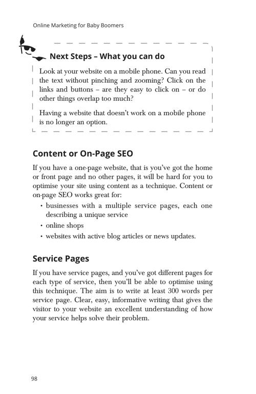Page 98 Next Steps